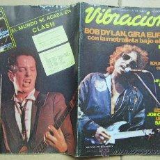 Revistas de música: VIBRACIONES Nº 83 AGOSTO ´81, BOB DYLAN, KRAFTWERK, THE JAM, BOB MARLEY FUNERAL. Lote 36304486