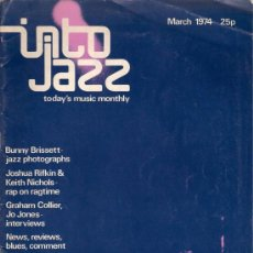 Revistas de música: REVISTA INTO JAZZ - TODAY'S MUSIC MONTHLY - VOL 1 Nº 2 MARZO 1974 EDICIÓN INGLESA ORIGINAL. Lote 36326296