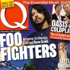 Revistas de música: Q REVISTA IMPORTACION FOO FIGHTERS COLDPLAY OASIS JOHN LYDON DICIEMBRE 2005. Lote 36413805