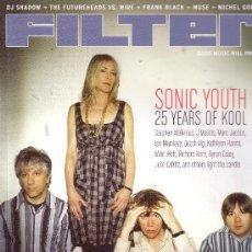 Revistas de música: FILTER REVISTA IMPORTACION SONIC YOUTH 25 AÑOS MUSE FRANK BLACK NUMERO 62 JULIO 2006 USA. Lote 36414022
