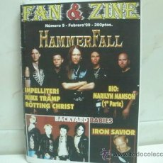 Revistas de música: FAN & ZINE Nº9 FEB 99 HAMMERFALL IRON SAVIOR BACKYARD BABIES. Lote 36442726