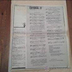 Revistas de música: SAL COMUN Nº 27 CON POSTER ORQUESTA MONDRADON. Lote 36528651