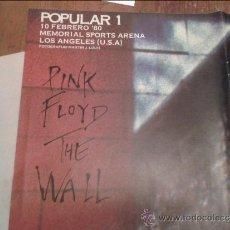 Revistas de música: POPULAR 1 POSTER LOS ANGELES PINK FLOYD. Lote 36529467