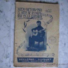 Revistas de música: NUEVO METODO PARA EL ARTE DE ACOMPAÑAR EN LA GUITARRA,GUILLERMO LLUQUET 1963-MUSICA-ACORDES. Lote 36688465