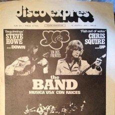 Revistas de música - Disco Expres nº 371 abril1976 YES; THE BAND;... - 36879312