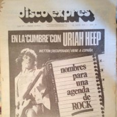 Revistas de música: DISCO EXPRES Nº 377 MAYO 1976 KINKS, URIAH HEEP, JETHRO TULL..... Lote 36879833