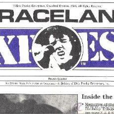 Revistas de música: LOTE 5 REVISTAS DE ELVIS PRESLEY: GRACELAND EXPRESS. Lote 36931847