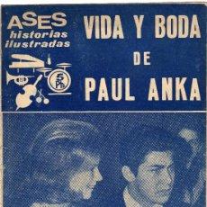 Revistas de música: VIDA Y BODA DE PAUL ANKA, AÑO 1963-64. Lote 37635583