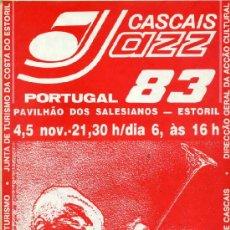 Revistas de música: REVISTA XIII FESTIVAL INTERNACIONAL DE JAZZ DE CASCAIS - NOVIEMBRE 1983. Lote 38323217