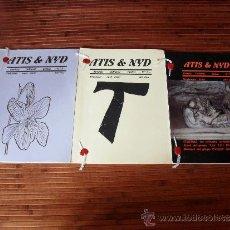 Revistas de música: LOTE DE 3 REVISTAS DE ATIS & NYD Nº 2, 3 Y 5 GOTHIC ROCK DARK FOLK DARKWAVE DARK ELECTRO. Lote 38797094