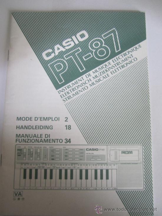 MANUALES CASIO PT 87 (Música - Revistas, Manuales y Cursos)