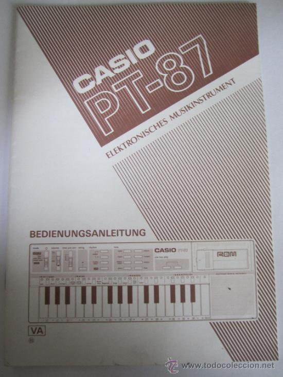 Revistas de música: MANUALES CASIO PT 87 - Foto 2 - 38972566