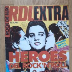 Revistas de música: ROCK DE LUX EXTRA -HEROES DEL ROCK 'N' ROLL 1985 ELVIS GENE VICENT JERRY LEE LEWIS. Lote 39037556