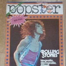 Revistas de música: ROLLING STONES SPECIAL -1980 POPSTER SPANISH MAGAZINE -POSTER BIO DISCOGRAPHY.... Lote 39160290