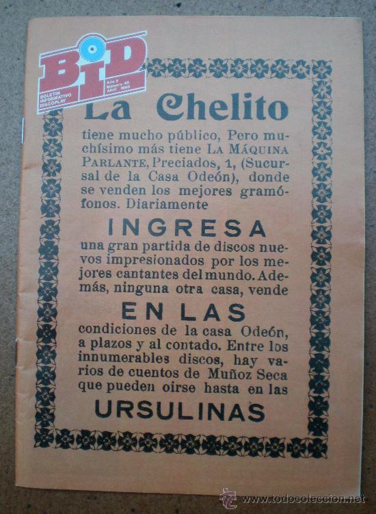 REVISTA BID BOLETÍN INFORMATIVO DISCOPLAY AÑO 1988, NÚMERO 48 (Música - Revistas, Manuales y Cursos)