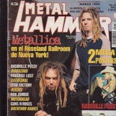 Revistas de música: METAL HAMMER Nº 136 , MANTIENE POSTER CENTRAL , NASHVILLE PUSSY. Lote 39216914