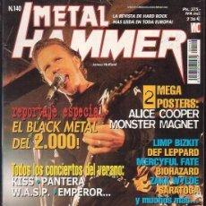 Revistas de música: METAL HAMMER Nº 140 , MANTIENE POSTER CENTRAL , ALICE COOPER, MONSTER MAGNET. Lote 39216956