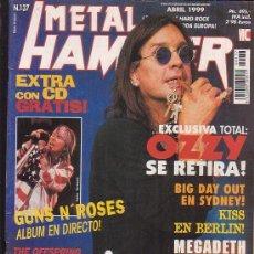 Revistas de música: METAL HAMMER Nº 137 , MANTIENE POSTER CENTRAL , JAMES HETFIELD, TONY IOMMI . Lote 39217014