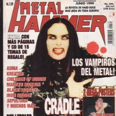 Revistas de música: METAL HAMMER Nº 139 , MANTIENE POSTER CENTRAL , FEAR FACTORY, MEGADETH. Lote 39217056