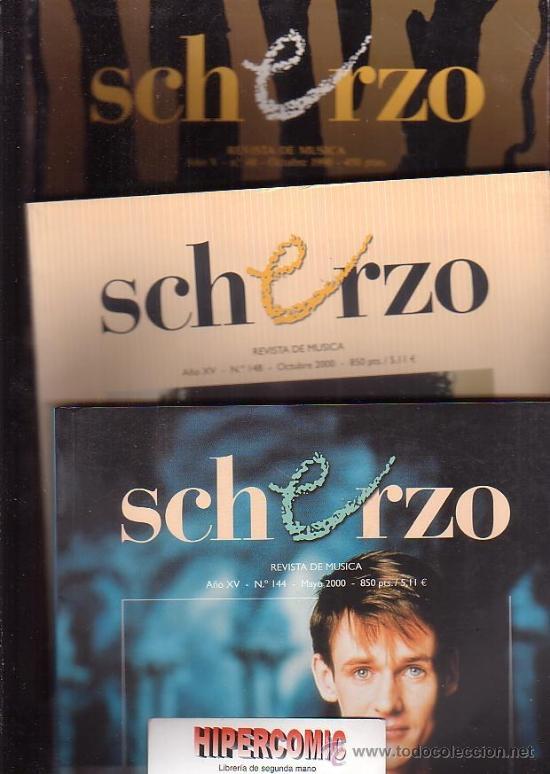 SCHERZO, REVISTA DE MÚSICA CLÁSICA -LOTE 12 EJEMPLARES -AÑOS 90 - 2000 (Música - Revistas, Manuales y Cursos)