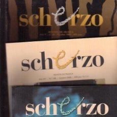 Revistas de música: SCHERZO, REVISTA DE MÚSICA CLÁSICA -LOTE 12 EJEMPLARES -AÑOS 90 - 2000. Lote 39222937