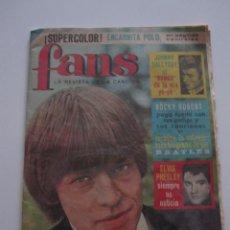 Revistas de música: REVISTA FANS Nº 23 NOV 1965 BRIAN JONES EN PORTADA STONES. Lote 39451077