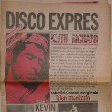 Revistas de música: DISCO EXPRES Nº 477 23 MAYO 1978. KEITH RICHARD, KEVIN AYERS, IGGY POP. Lote 39603906