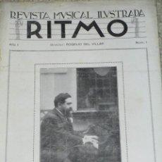 Revistas de música: RITMO. REVISTA MUSICAL ILUSTRADA. DESDE EL Nº 1 DE 1929 A 1936, Y DESDE 1940 AL 46 (VER DETALLE). Lote 39674505