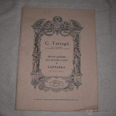 Revistas de música: METODO GRADUADO PARA APRENDER A TOCAR LA GUITARRA, G. TARRAGO BOILEAU. Lote 39879909