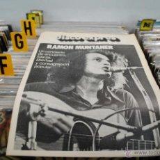 Revistas de música: REVISTA DISCO EXPRES 1972 RAMON MUNTANER. Lote 40919743