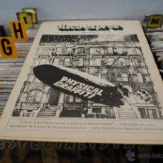 Revistas de música: REVISTA DISCO EXPRES 1975 LED ZEPPELIN + LOU REED. Lote 40920784