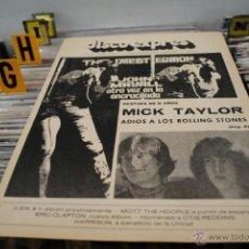Revistas de música: REVISTA DISCO EXPRES 1975 JOHN MAYALL + ROLLING STONES. Lote 40920830