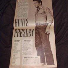 Revistas de música: ELVIS PRESLEY POSTER GUARDIOLA REVISTA ORIGINAL EPOCA BARCELONA 1963 COLECCION EUROVISION 1963. Lote 40965321