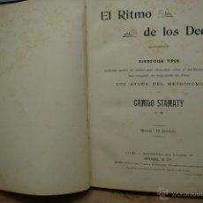 Revistas de música: EL RITMO DE LOS DEDOS-CAMILO STAMATY-EJERCICIOS PARA PIANO-. Lote 41037014