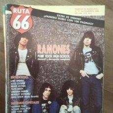 Revistas de música: RUTA 66 -# 31 1988 RAMONES ALICE COOPER HAMMER FILMS LIME SPIDERS. Lote 41643950