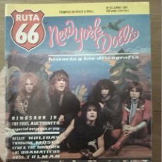 Revistas de música: RUTA 66 -# 63 1991 NEW YORK DOLLS -DINOSAUR JR NOISE POP -GLAM -PUNK. Lote 41648541