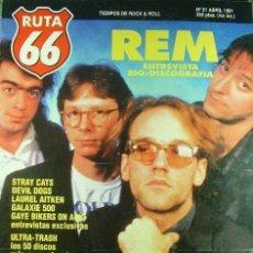 Revistas de música: RUTA 66 -# 61 1991 REM -STRAY CATS -WEM WENDERS. Lote 41659218