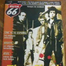Revistas de música: RUTA 66 -#155 -1999 THE CLASH -MISFITS -DAVID BOWIE -PUNK. Lote 41659257