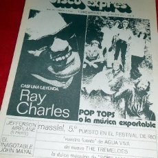 Revistas de música: DISCO EXPRES Nª 145 RAY CHARLES, POP TOPS, MASSIEL, JEFFERSON AIRPLANE, SOFT MACHINE. Lote 41781084