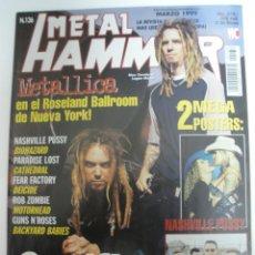 Revistas de música: METAL HAMMER Nº 136 SOULFLY METALLICA Y POSTER NASHVILLE PUSSY. Lote 42139685