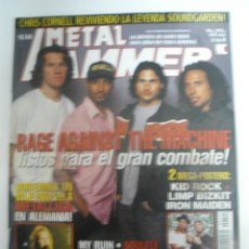 Revistas de música: METAL HAMMER Nº 144 RAGE AGAINST THE MACHINE METALLICA BARON ROJO SAXON MISFITS. Lote 42140506