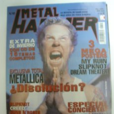 Revistas de música: METAL HAMMER Nº145 METALLICA SU TA GAR POSTERS MY RUIN+SLIPKNOT+DREAM THEATER . Lote 42140696