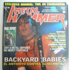 Revistas de música: METAL HAMMER Nº 164 2001-BACKYARD BABIES-MARILYN MANSON. Lote 42666824