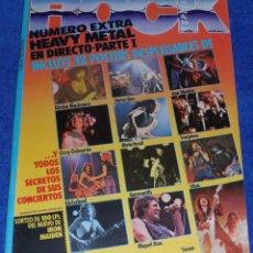 Revistas de música: ROCK ESPEZIAL EXTRA Nº 6 - 12 SUPER POSTERS DE HEAVY METAL. Lote 42701580