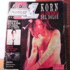 Revistas de música: POPULAR 1, 228, ABRIL 97, KORN, ALICE COOPER, RUSH, ZZ TOP. Lote 42677310