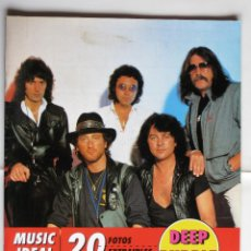 Revistas de música: MUSIC IDEAL, DEEP PURPLE - HEAVY ROCK, RITCHIE BLACKMORE, IAN GILLAN, DAVID COVERDALE.... Lote 42740403