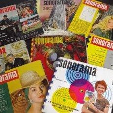 Revistas de música: RARISIMO LOTE DISCO MAGAZINE SONORAMA B AÑOS 50-60 FLEXIDISCOS DELON BARDOT GUATEQUE HARDY VARTAN. Lote 43524114
