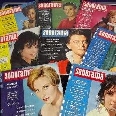 Revistas de música: RARISIMO LOTE DISCO MAGAZINE SONORAMA A AÑOS 50-60 FLEXIDISCOS DELON BARDOT GUATEQUE HARDY VARTAN. Lote 43524160