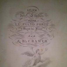 Revistas de música: MUY ANTIGUO MANUAL DE PIANO POR J.B. CRAMER. Lote 43936874