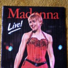 Revistas de música: REVISTA MAGAZIN MADONNA LIVE OMNIBUS PRESS ERISA1987 CON 2 POSTER-NUEVO. Lote 44182456